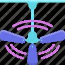 air, ceiling icon