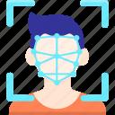 facial, recognition icon