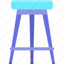 chair, stool icon