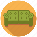 couch, furniture, interior, sofa, upholstered icon