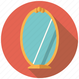 decoration, furniture, interior, mirror icon