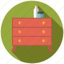 cosmetics, decoration, drawers, dresser, furniture, interior icon