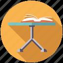 book, coffee table, decoration, furniture, interior, table icon