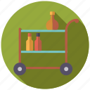bar, bottles, decoration, furniture, interior, trolley icon