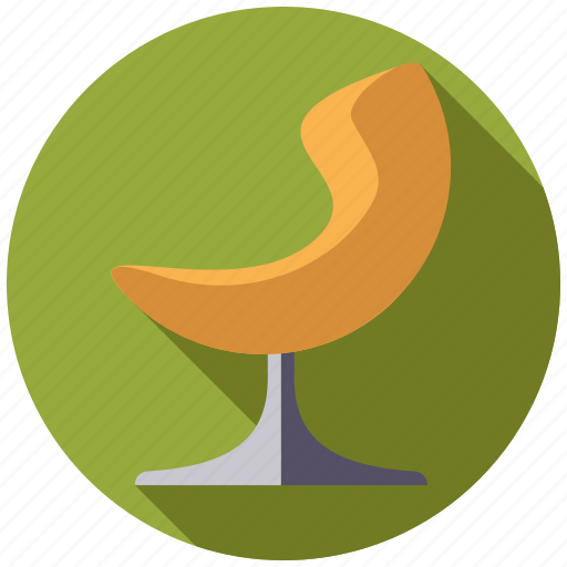 chair, furniture, interior, lounge chair, retro, revolving chair icon