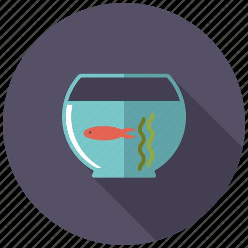decoration, fish bowl, fish tank, gold fish, interior icon