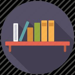 book, decoration, furniture, interior, shelf icon
