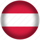 austria, flag, international, world icon