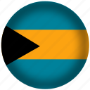 bahamas, flag, international, world icon