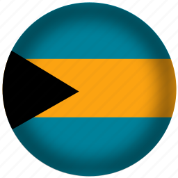 bahamas, flag, international, world icon