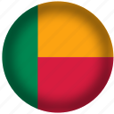 benin, flag, international, world icon