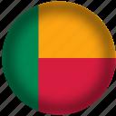 international, flag, benin, world