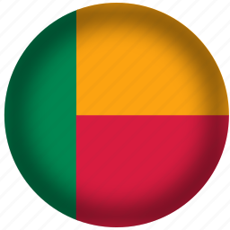 benin, flag, international, world icon