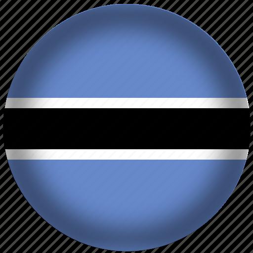 botswana, flag, international, world icon