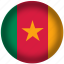 cameroon, flag, international, world icon