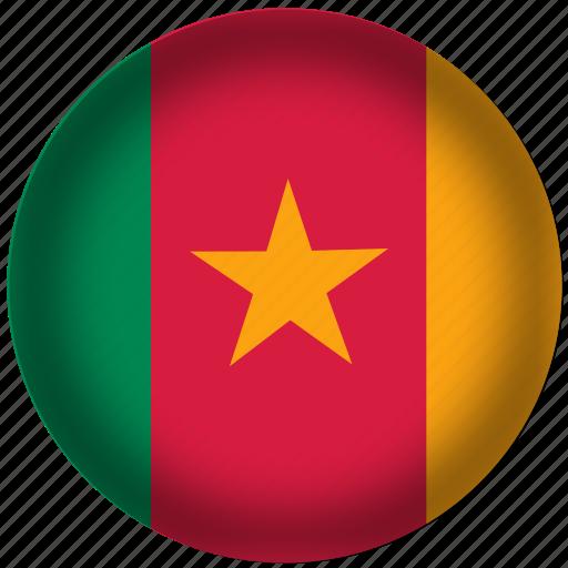 cameroon, flag, international, world icon