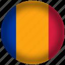 chad, flag, international, world