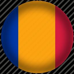 chad, flag, international, world icon