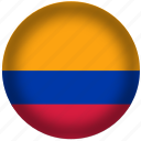 colombia, flag, international, world icon