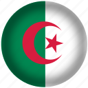algeria flag, circle, flag, national icon