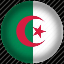 algeria flag, circle, flag, national icon