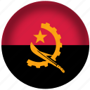 angola flag, circle, flag, national icon