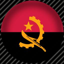 angola flag, circle, flag, national icon