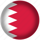 bahrain flag, circle, flags, national icon