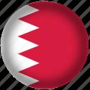 bahrain flag, flags, circle, national