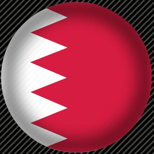 bahrain flag, circle, flags, national icon