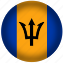 barbados flag, circle, flags, national