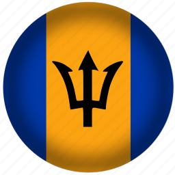 barbados flag, circle, flags, national icon
