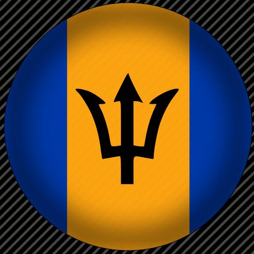 barbados flag, circle, flags, national icon