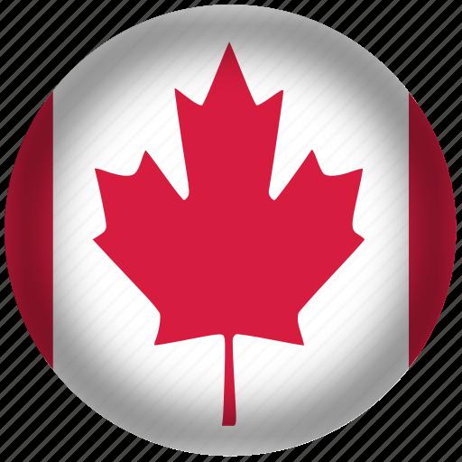 canada flag, circle, flag, national icon