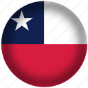 chile flag, circle, flags, national