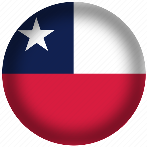 chile flag, circle, flags, national icon