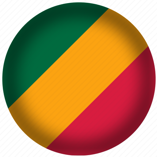 circle, congo republic flag, flag, national icon