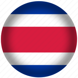 circle, costarica flag, flag, national icon