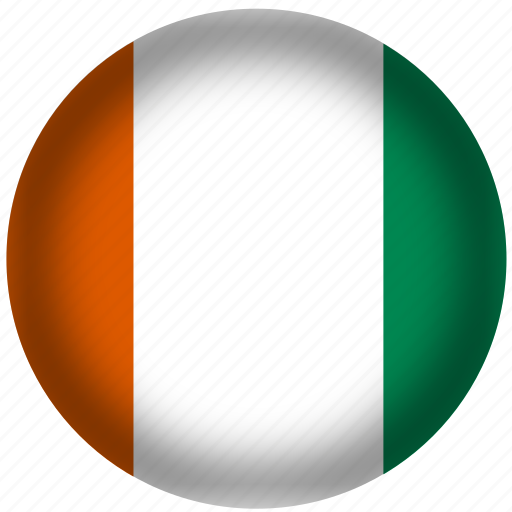 circle, cote d ivoire flag, flag, national icon