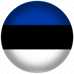 circle, estonia flag, flag, national icon