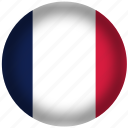 circle, flags, france flag, national icon