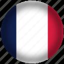 circle, flags, france flag, national