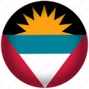 antigua and barbuda, circle, flag, world icon