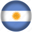 argentina, circle, flag, world icon