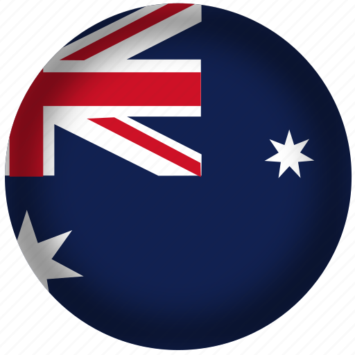 australia, circle, flag, world icon