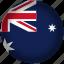 australia, circle, flag, world icon