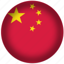 china, circle, flag, world icon