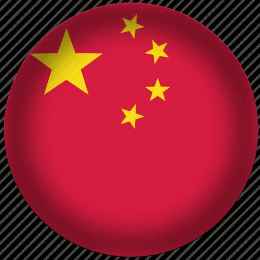 china, circle, flag, world icon