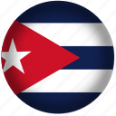 circle, cuba, flag, world icon