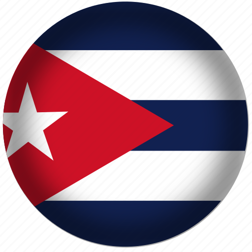 circle, cuba, flag, world icon